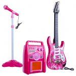 vyr_1380Rock-n-Roll-Gitar-Mikrofon-Allvany-Erosito-Keszlet-Pink